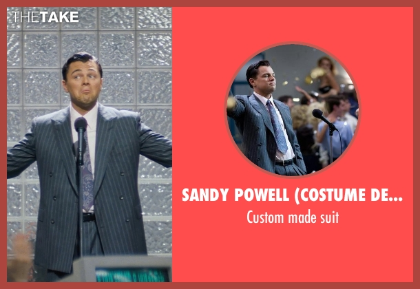 Sandy Powell (Costume Designer) and Leonard Logsdail (Tailor) gray suit from The Wolf of Wall Street seen with Leonardo DiCaprio (Jordan Belfort)