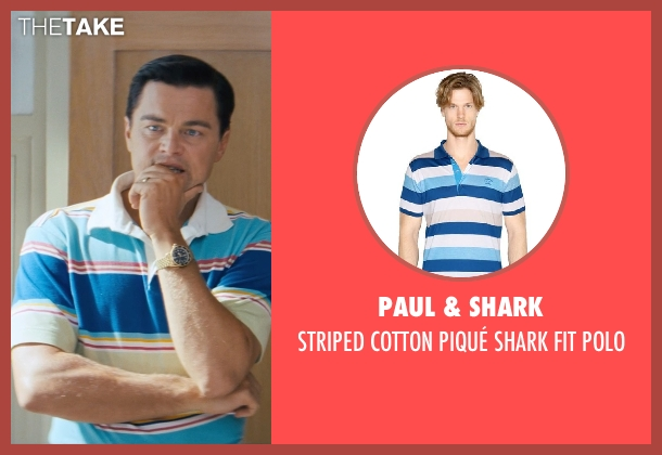PAUL & SHARK polo from The Wolf of Wall Street seen with Leonardo DiCaprio (Jordan Belfort)