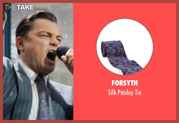 FORSYTH purple tie from The Wolf of Wall Street seen with Leonardo DiCaprio (Jordan Belfort)
