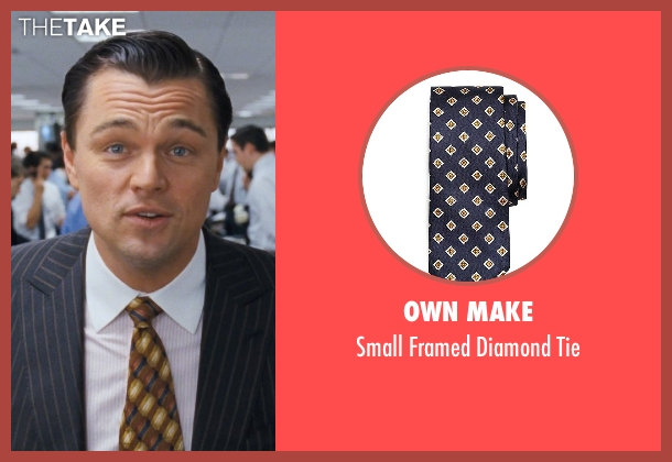 Own Make tie from The Wolf of Wall Street seen with Leonardo DiCaprio (Jordan Belfort)