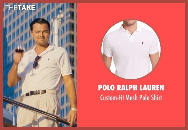 Polo Ralph Lauren white shirt from The Wolf of Wall Street seen with Leonardo DiCaprio (Jordan Belfort)