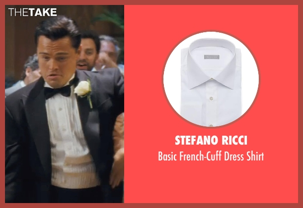 Stefano Ricci white shirt from The Wolf of Wall Street seen with Leonardo DiCaprio (Jordan Belfort)