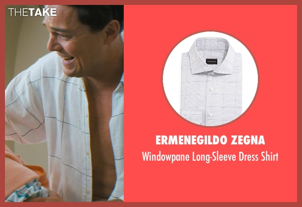 Ermenegildo Zegna white shirt from The Wolf of Wall Street seen with Leonardo DiCaprio (Jordan Belfort)