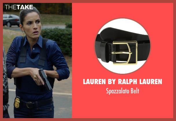 Lauren by Ralph Lauren black belt from Captive seen with Leonor Varela (Detective Sanchez)