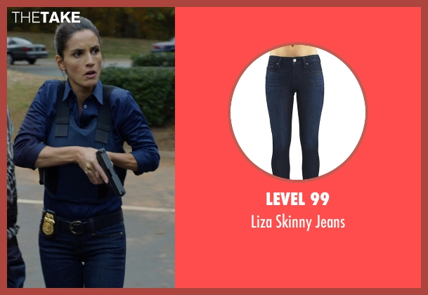 Level 99 blue jeans from Captive seen with Leonor Varela (Detective Sanchez)