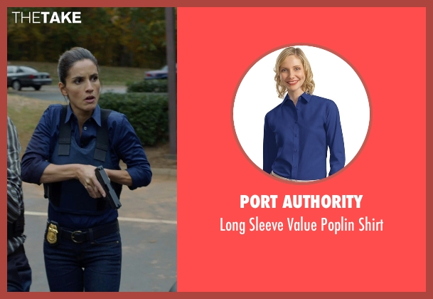 Port Authority blue shirt from Captive seen with Leonor Varela (Detective Sanchez)