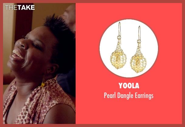 YooLa yellow earrings from Top Five seen with Leslie Jones (Lisa)