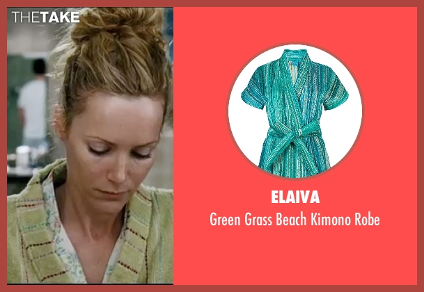 Elaiva green robe from Knocked Up seen with Leslie Mann (Debbie)