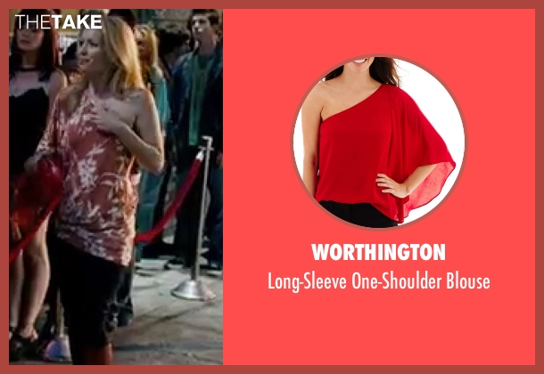 Worthington red blouse from Knocked Up seen with Leslie Mann (Debbie)