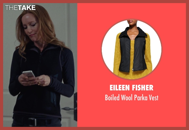 Eileen Fisher black vest from The Other Woman seen with No Actor (Kate King)
