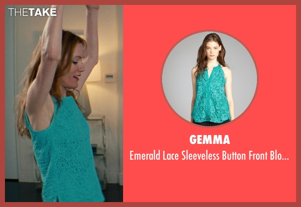 Gemma blue blouse from The Other Woman seen with Leslie Mann (Kate King)