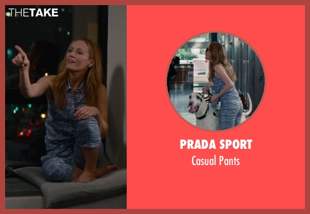 Prada Sport blue pants from The Other Woman seen with Leslie Mann (Kate King)