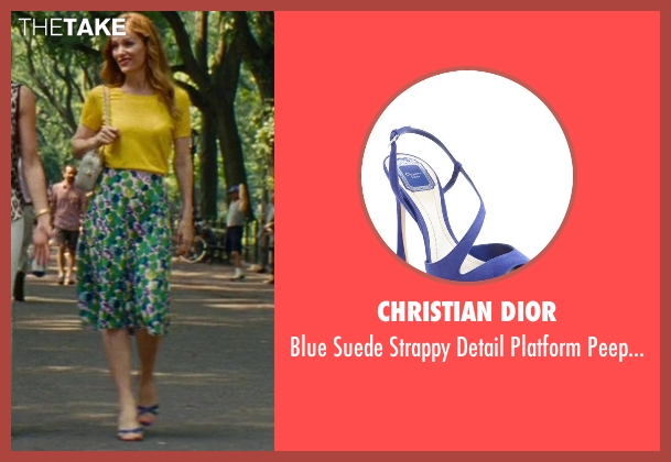 Christian Dior blue sandals from The Other Woman seen with Leslie Mann (Kate King)