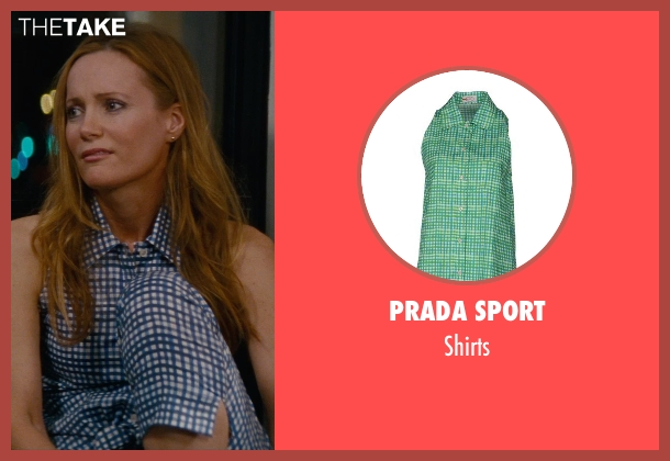 Prada Sport blue shirts from The Other Woman seen with Leslie Mann (Kate King)