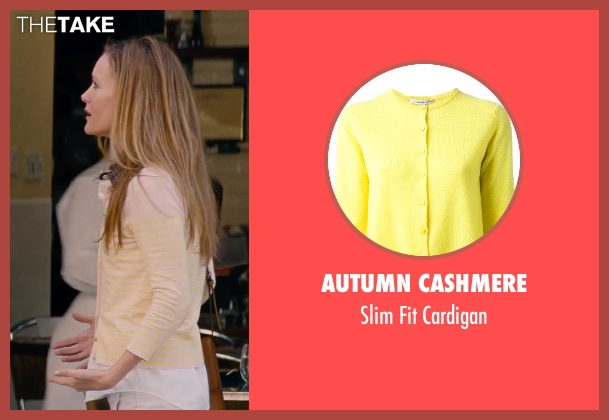 Autumn Cashmere yellow cardigan from The Other Woman seen with Leslie Mann (Kate King)