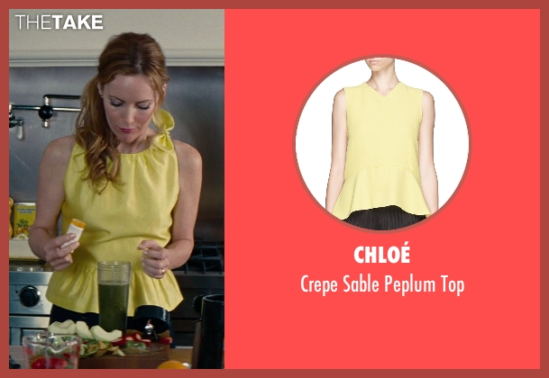 Chloé yellow top from The Other Woman seen with Leslie Mann (Kate King)