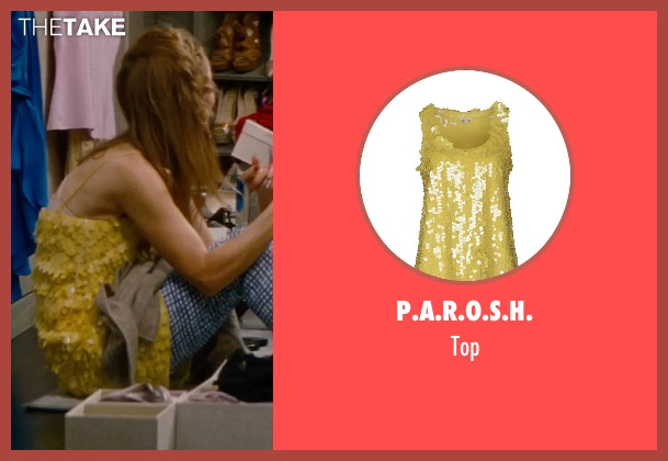 P.A.R.O.S.H. yellow top from The Other Woman seen with Leslie Mann (Kate King)