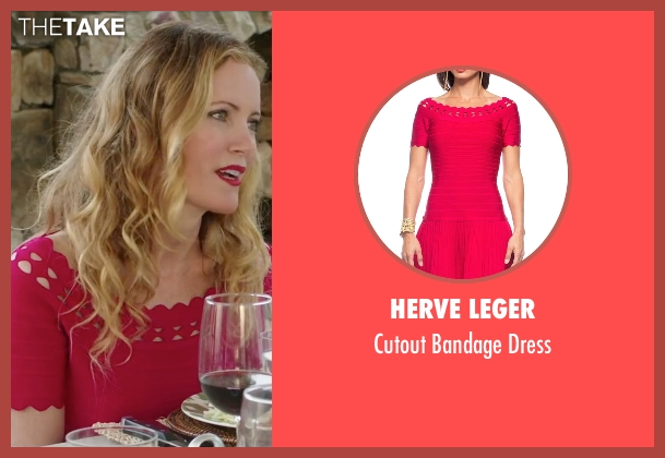 Herve Leger red dress from Vacation seen with Leslie Mann (Audrey Griswold)