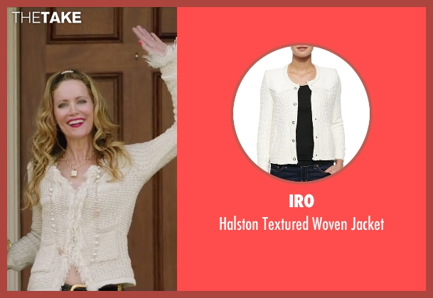 Iro white jacket from Vacation seen with Leslie Mann (Audrey Griswold)