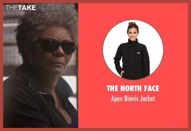 The North Face black jacket from Deadpool seen with Leslie Uggams (Blind Al)
