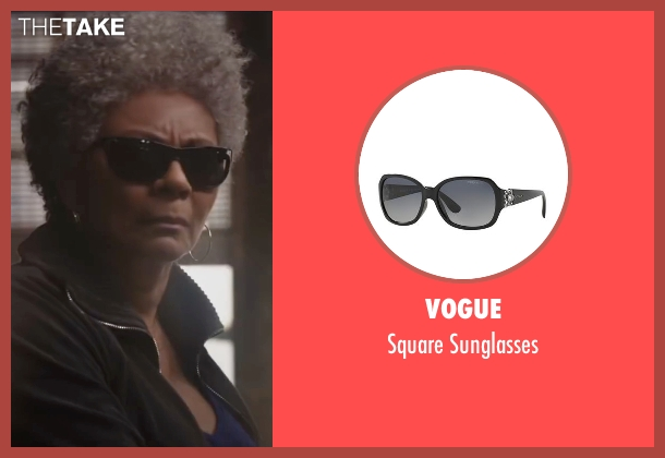 Vogue black sunglasses from Deadpool seen with Leslie Uggams (Blind Al)