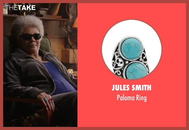 Jules Smith blue ring from Deadpool seen with Leslie Uggams (Blind Al)