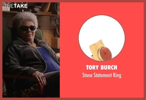 Tory Burch red ring from Deadpool seen with Leslie Uggams (Blind Al)