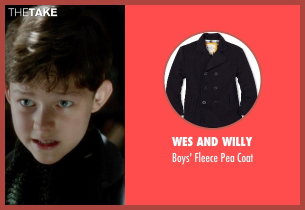 Wes And Willy black coat from Pan seen with Levi Miller (Peter Pan)