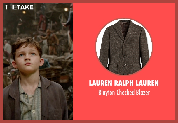 Lauren Ralph Lauren brown blazer from Pan seen with Levi Miller (Peter Pan)