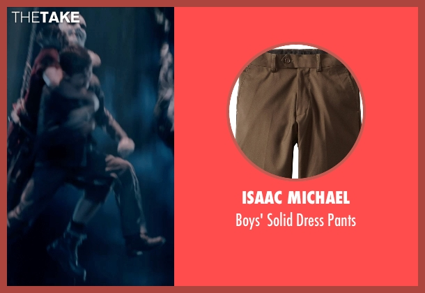 Isaac Michael brown pants from Pan seen with Levi Miller (Peter Pan)
