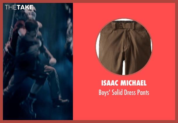 Isaac Michael brown pants from Pan seen with Levi Miller (Peter Pan)