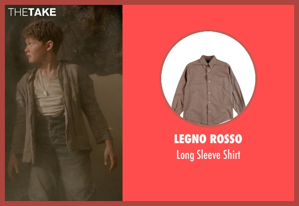 Legno Rosso brown shirt from Pan seen with Levi Miller (Peter Pan)