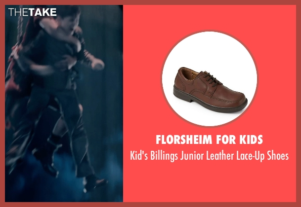 Florsheim for Kids brown shoes from Pan seen with Levi Miller (Peter Pan)