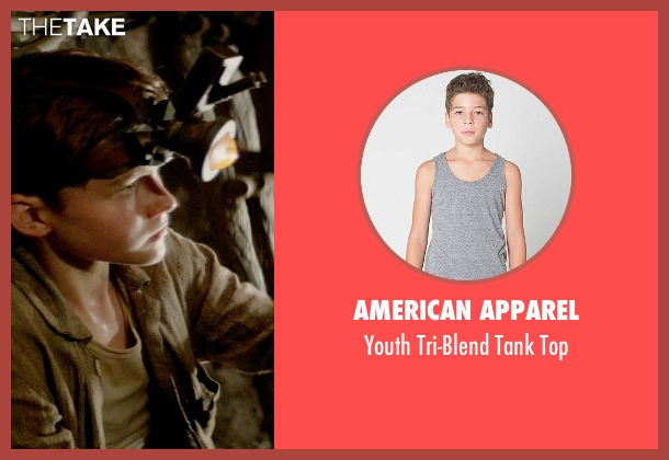 American Apparel gray top from Pan seen with Levi Miller (Peter Pan)