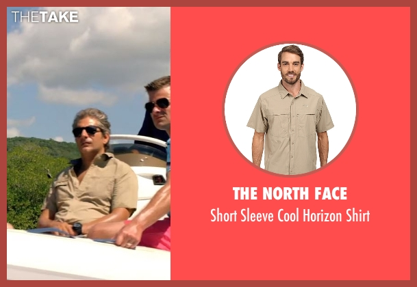 The North Face beige shirt from Mad Dogs seen with Lex (Michael Imperioli)