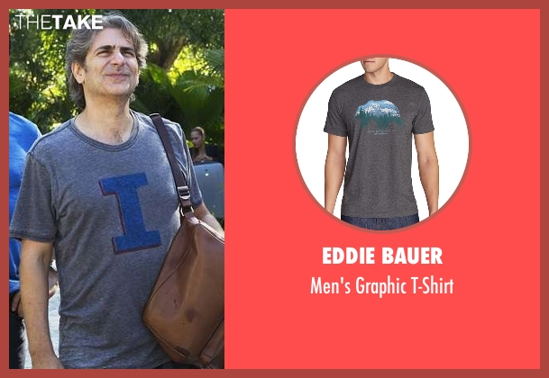 Eddie Bauer gray t-shirt from Mad Dogs seen with Lex (Michael Imperioli)