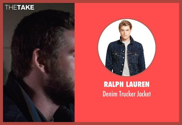 Ralph Lauren blue jacket from Cut Bank seen with Liam Hemsworth (Dwayne McLaren)