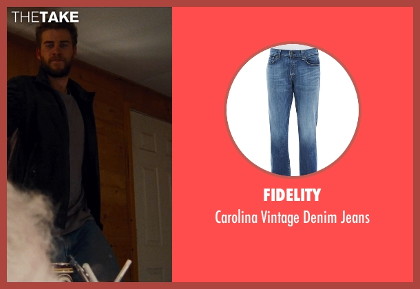 Fidelity blue jeans from Cut Bank seen with Liam Hemsworth (Dwayne McLaren)
