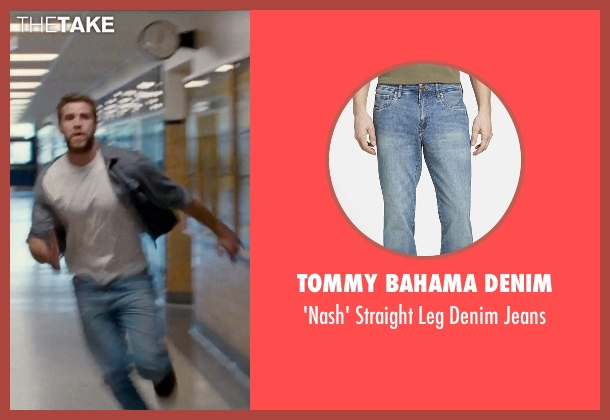 Tommy Bahama Denim blue jeans from Cut Bank seen with Liam Hemsworth (Dwayne McLaren)