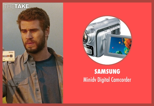 Samsung camcorder from Cut Bank seen with Liam Hemsworth (Dwayne McLaren)