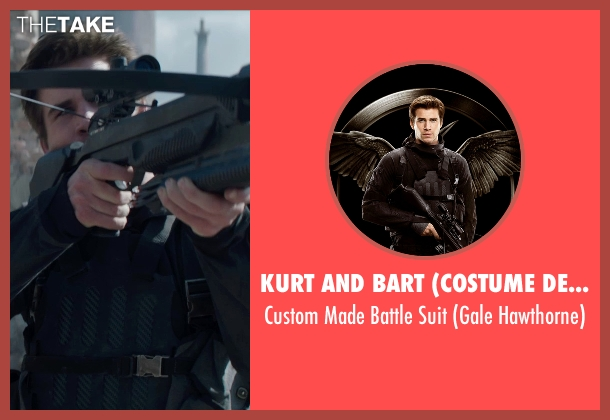 Kurt and Bart (Costume Designer) suit from The Hunger Games: Mockingjay Part 1 seen with Liam Hemsworth (Gale Hawthorne)