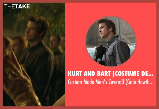 Kurt and Bart (Costume Designer) black coverall from The Hunger Games: Mockingjay - Part 2 seen with Liam Hemsworth (Gale Hawthorne)