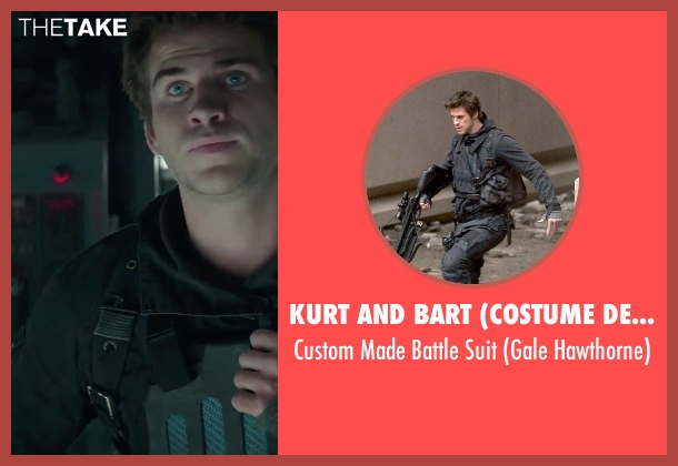 Kurt and Bart (Costume Designer) suit from The Hunger Games: Mockingjay - Part 2 seen with Liam Hemsworth (Gale Hawthorne)