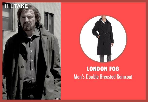 London Fog black raincoat from A Walk Among The Tombstones seen with Liam Neeson (Matthew Scudder)