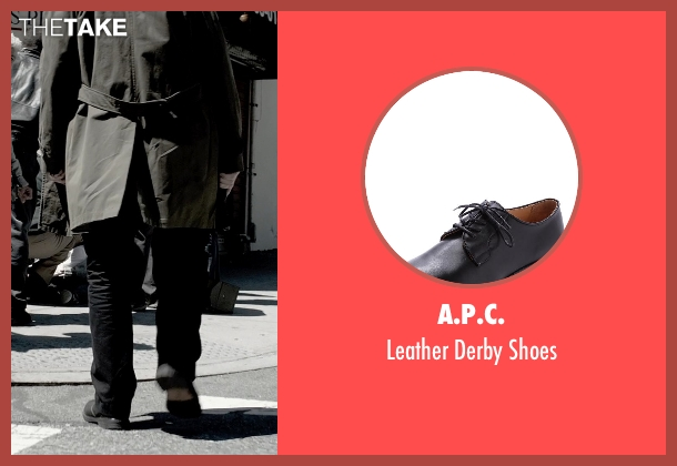 A.P.C. black shoes from A Walk Among The Tombstones seen with Liam Neeson (Matthew Scudder)