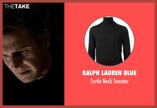 Ralph Lauren Blue black sweater from A Walk Among The Tombstones seen with Liam Neeson (Matthew Scudder)