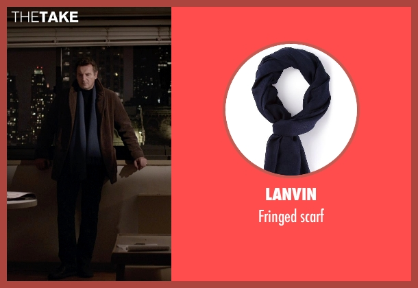 Lanvin blue scarf from A Walk Among The Tombstones seen with Liam Neeson (Matthew Scudder)