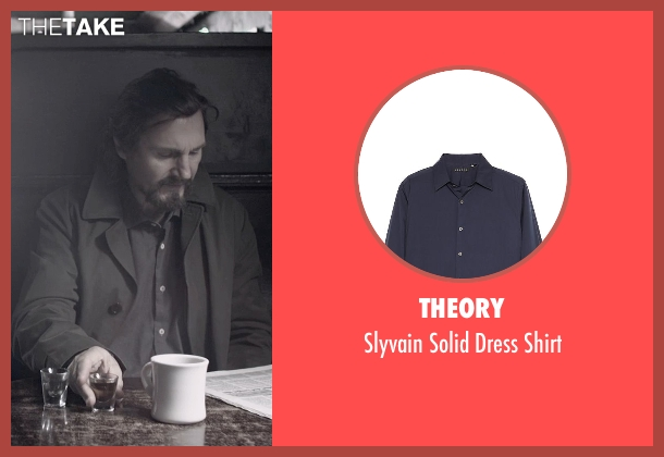 Theory blue shirt from A Walk Among The Tombstones seen with Liam Neeson (Matthew Scudder)