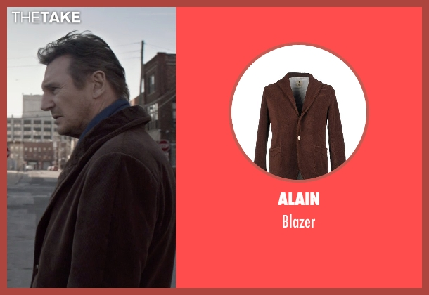 Alain brown blazer from A Walk Among The Tombstones seen with Liam Neeson (Matthew Scudder)