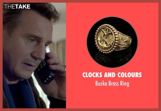 Clocks and Colours gold ring from A Walk Among The Tombstones seen with Liam Neeson (Matthew Scudder)